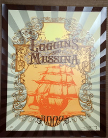 LOGGINS AND MESSINA - 2009 TOUR - FULL SAIL - ARTIST PROOF - ORIG SILKSCREEN - RICHARD BIFFLE - POSTER