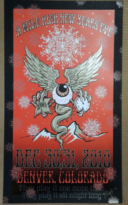 WIDESPREAD PANIC - NYE 2010 - PEPSI CENTER - DENVER  - ORIG SILKSCREEN - RICHARD BIFFLE - POSTER