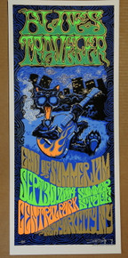 BLUES TRAVLER - 2004 - CENTRAL PARK - NEW YORK CITY - JOHN POPPER - ARTIST PROOF - ORIG SILKSCREEN - RICHARD BIFFLE - POSTER