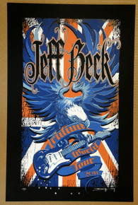JEFF BECK - IRIDIUM WORLD TOUR 2009  - ARTIST PROOF - ORIG SILKSCREEN - RICHARD BIFFLE - POSTER