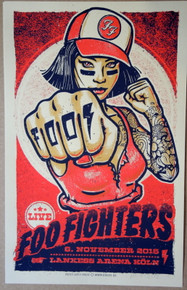 FOO FIGHTERS -  2015 - ARTIST PROOF - #3 - COLOGNE - LARS KRAUSE - RED VARIANT - TOUR POSTER