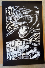 STOOGES - MASTODON - TURBONEGRO - #1/60 - 2007 - SXSW - GREG REINEL - STAINBOY - POSTER - MEXICAN CHOCOLATE