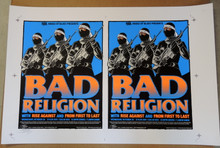 "BAD RELIGION - UNCUT PROOF SHEET - 2004 - GREG""STAINBOY""REINEL - ORLANDO -POSTER"