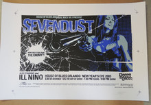 "SEVENDUST - UNCUT PROOF SHEET - 2003 NYE - GREG""STAINBOY""REINEL - ORLANDO -POSTER"