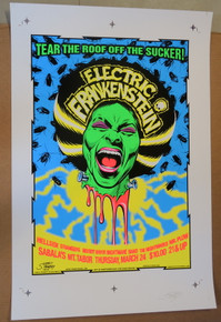 ELECTRIC FRANKENSTEIN - SABALAS - PORTLAND - 2005  - STAINBOY - GREG REINEL- UNCUT PROOF SHEET