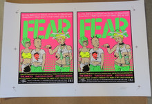 FEAR - UNCUT PROOF SHEET - 2004  - THE BACK BOOTH- ORLANDO - STAINBOY - GREG REINEL