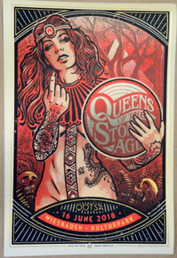 QUEENS OF THE STONE AGE - 2018 - GERMANY - LARS P. KRAUSE - RED - POSTER - QOTSA