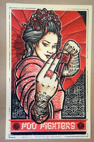 FOO FIGHTERS -  2019 - DENMARK - LARS KRAUSE - TOUR POSTER - DAVE GROHL