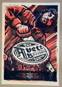 THE AVETT BROTHERS-  2013 - GERMANY - LARS KRAUSE - TOUR POSTER