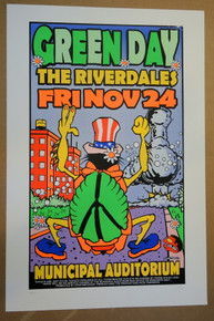 GREEN DAY - 1995 - ATLANTA - MUNICIPAL AUD. - UNCLE CHARLIE - POSTER