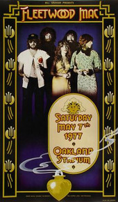 FLEETWOOD MAC - 1977 - OAKLAND COLISEUM - RANDY TUTEN - TOUR POSTER