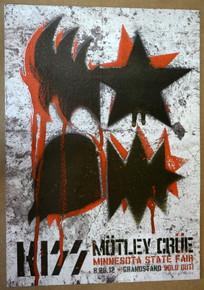 KISS - MOTLEY CRUE  - 2012- MINNESOTA STATE FAIR - KII ARENS - TOUR POSTER