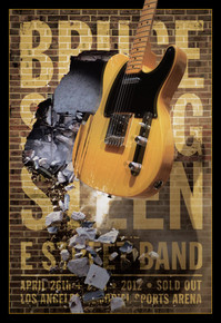 BRUCE SPRINGSTEEN AND E STREET BAND - LA SPORTS ARENA - 2012 - KII ARENS - TOUR POSTER