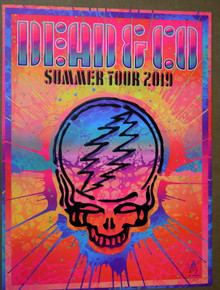 DEAD AND COMPANY - SUMMER TOUR 2019 POSTER - KII ARENS - POSTER