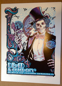 DEAD & COMPANY -NEW YEARS 2019 - SAN FRANCISCO - AJ MASTHAY - POSTER -