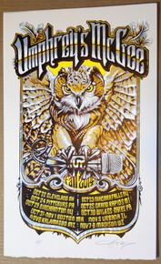 UMPHREY'S MCGEE - FALL TOUR 2014 - AJ MASTHAY - POSTER - ZONKEY