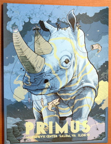 PRIMUS - CLAYPOOL - 2019 - SALEM - VIRGINIA - DAVE KLOC - POSTER
