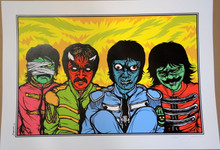 JERMIANE ROGERS - ART PRINT - BEATLES - CHEMICAL BROS. - #25/150 - POSTER