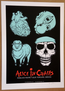 ALICE IN CHAINS - ROSELAND - PORTLAND - 2009 - JERMAINE ROGERS - POSTER