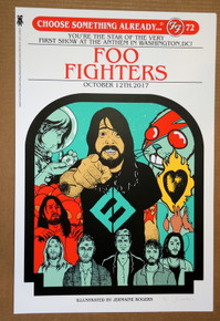 FOO FIGHTERS - 2017 - THE ANTHEM - A/P WHITE- JERMAINE ROGERS - POSTER - WASHINGTON DC