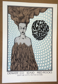 DEFTONES - ALICE IN CHAINS - POSTER - RED ROCKS - A/P CREME - DENVER - JERMAINE ROGERS