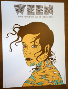 WEEN - 2009 - ASBURY PARK - STONE PONY - #90/100 - POSTER - JERMAINE ROGERS