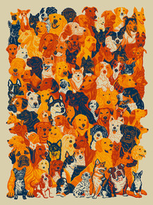 93 DOGS - ART PRINT - JOHN VOGL - 2020 - SILK SCREEN