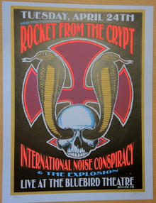 ROCKET FROM THE CRYPT - 2001 - BLUEBIRD THEATRE  - LINDSEY KUHN - POSTER - DENVER