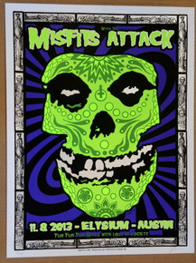 THE MISFITS - THE ATTACK - 2013 - ELYSIUM  - LINDSEY KUHN - POSTER - AUSTIN
