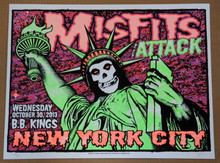 THE MISFITS - THE ATTACK - 2013 - BB KING'S - LINDSEY KUHN - POSTER - NEW YORK CITY