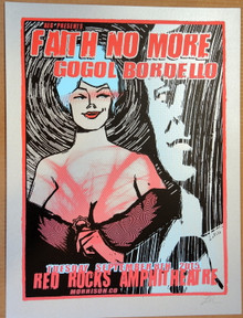 FAITH NO MORE - GOGOL BORDELLO - RED ROCKS 2015 - LIDSEY KUHN - TOUR POSTER