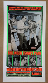 THE DILLINGER ESCAPE PLAN  - 2004 - RON DONOVAN - SLIM'S - POSTER - SAN FRANCISCO