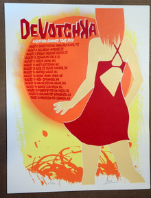 DEVOTCHKA - EUROPEAN SUMMER TOUR POSTER 2009  - LINDSEY  KUHN -HOW IT ENDS