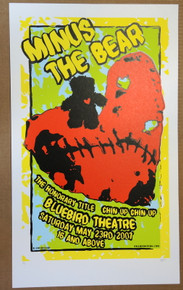 MINUS THE BEAR - 2007 - BLUEBIRD - DENVER - EBERHARD - POSTER