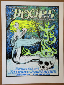 THE PIXIES - BEST COAST - 2014 - FILLMORE - DENVER - LINDSEY KUHN -   POSTER
