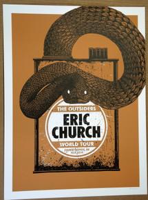 ERIC CHURCH - GRAND RAPIDS  -A/P - #2/50 -  2014 - JOHN VOGL - TOUR POSTER
