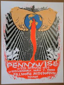 PENNYWISE - DENVER - FILLMORE - 2008 - LINDSEY KUHN  -TOUR POSTER