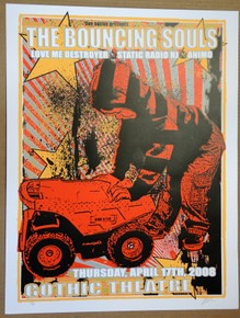 BOUNCING SOULS - DENVER - GOTHIC - 2008 - LINDSEY KUHN -POSTER - LOVE ME DESTROYER