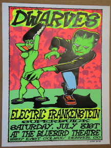 DWARVES - ELECTRIC FRANKENSTEIN- DENVER - 1999 - LINDSEY KUHN -POSTER