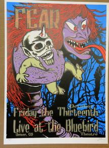 FEAR- 2001 - BLUEBIRD - DENVER  - LINDSEY KUHN - TOUR POSTER -