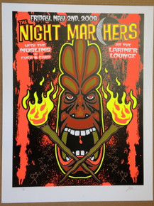 THE NIGHT MARCHERS - 2008 - LARIMER LOUNGE - DENVER - LINDSEY KUHN - POSTER