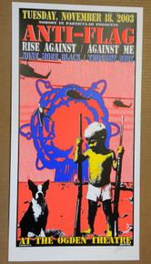 ANTI FLAG - RISE AGAINST - AGAINST ME - 2003 - DENVER - LINDSEY KUHN - POSTER