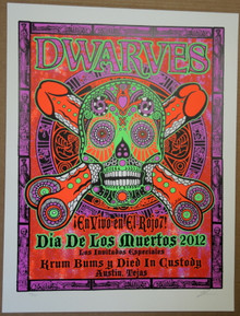 THE DWARVES - AUSTIN - DAY OF THE DEAD - 2012 POSTER - LINDSEY KUHN -KRUM BUNS