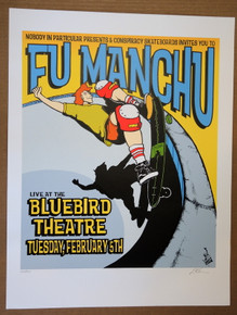 FU MANCHU -DENVER - BLUEBIRD - POSTER - LINDSEY KUHN - 2002 - POSTER
