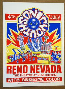 SONIC YOUTH  -2006 - JOHN HOWARD - POSTER - RENO HILTON - NEVADA
