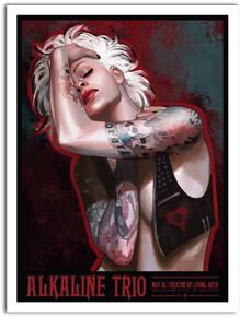 ALKALINE TRIO - PHILADELPHIA - 2015 - DANIELA UHLIG - POSTER - LIVING ARTS
