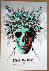 FOO FIGHTERS - 2015 - COOPER'S STADIUM - ADELAIDE- KEN TAYLOR - SONIC HIGHWAY TOUR POSTER