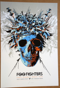 FOO FIGHTERS - 2015 - NIB STADIUM - PERTH- KEN TAYLOR - SONIC HIGHWAY TOUR POSTER