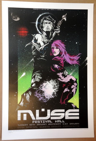 MUSE - 2007 - FESTIVAL HALL - RHYS COOPER - MELBOURNE - POSTER