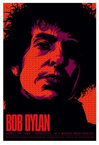 BOB DYLAN - 2008 - EVANSVILLE- TOUR POSTER -KEN TAYLOR -  MESKER AMPHITHEATRE